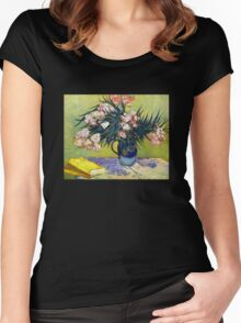 'Still Life with Oleander' by Vincent Van Gogh (Reproduction) Women's Fitted Scoop T-Shirt