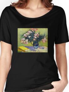 'Still Life with Oleander' by Vincent Van Gogh (Reproduction) Women's Relaxed Fit T-Shirt