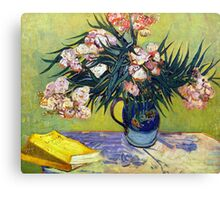 'Still Life with Oleander' by Vincent Van Gogh (Reproduction) Canvas Print