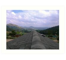 Rooftop in Livermore Co Art Print