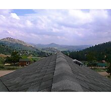 Rooftop in Livermore Co Photographic Print