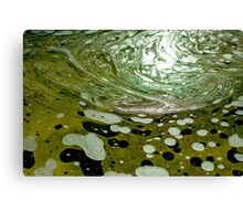 The magic water, green Canvas Print