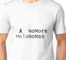 No More Melanoma. Black Ribbon For Melanoma Awareness Unisex T-Shirt