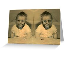 If I knew then... (Portrait of the Artist) Greeting Card