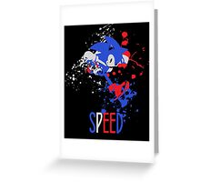 Sonic - SUPER SMASH BROTHERS Greeting Card
