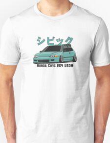 Honda Civic Hatchback on DropMode (aquamarine) Unisex T-Shirt