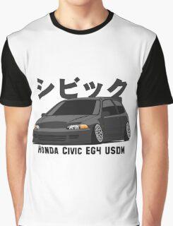 Honda Civic Hatchback on DropMode (black) Graphic T-Shirt