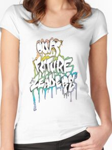 Our Future Leaders Graffiti Rainbow Women's Fitted Scoop T-Shirt