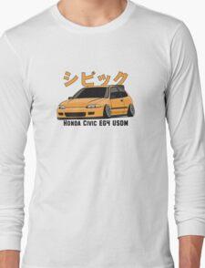 Honda Civic Hatchback on DropMode (yellow) Long Sleeve T-Shirt
