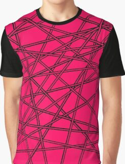 Crossed Lines - Black Edition Graphic T-Shirt