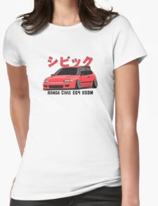 Honda Civic Hatchback on DropMode (pink) Womens Fitted T-Shirt