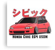 Honda Civic Hatchback on DropMode (pink) Metal Print