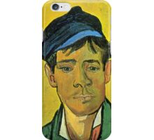 'Man with a Cap' by Vincent Van Gogh (Reproduction) iPhone Case/Skin