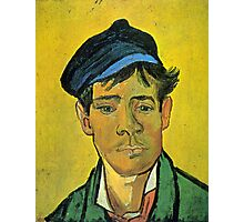 'Man with a Cap' by Vincent Van Gogh (Reproduction) Photographic Print