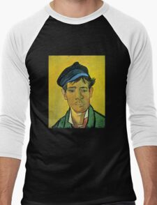 'Man with a Cap' by Vincent Van Gogh (Reproduction) Men's Baseball ¾ T-Shirt