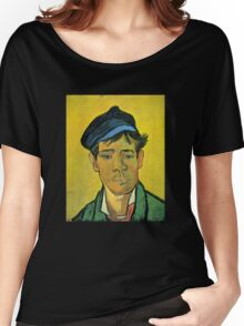 'Man with a Cap' by Vincent Van Gogh (Reproduction) Women's Relaxed Fit T-Shirt