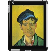 'Man with a Cap' by Vincent Van Gogh (Reproduction) iPad Case/Skin