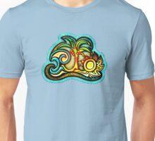 Rio de Janeiro, Brazil, Waves, Palm, Sun Unisex T-Shirt