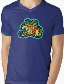Rio de Janeiro, Brazil, Waves, Palm, Sun Mens V-Neck T-Shirt