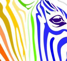 Zebra; Rainbow Zebra Sticker