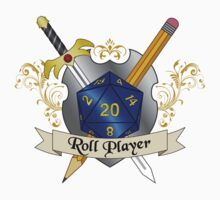 Role Player Blue d20 Crest Sticker by NaShanta