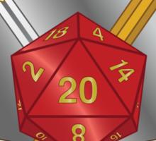 Game Master Red d20 Crest Sticker Sticker