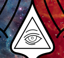 Mickey Mouse Diamond Hands Blue/Red Space (illuminati) Sticker