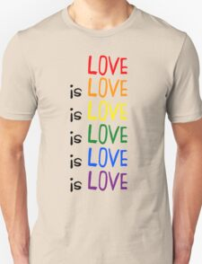 Love is Love is Love Unisex T-Shirt