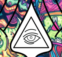 Mickey Mouse Diamond Illuminati (Trippy) Sticker