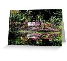 God leads me beside still waters; God restores my soul. Greeting Card