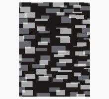 Black & 3 Shades of Gray Baby Tee
