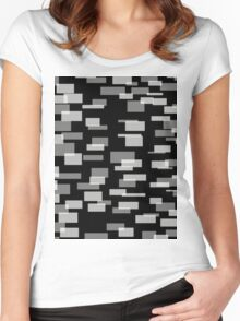 Black & 3 Shades of Gray Women's Fitted Scoop T-Shirt