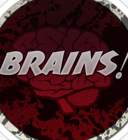 Cool horror sticker - Brains! Sticker