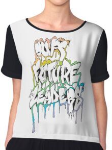 Our Future Leaders Graffiti Rainbow Chiffon Top