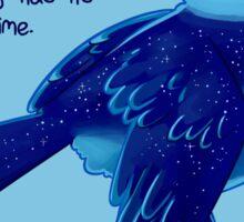 """""""Healing Has its Own Time"""" Bird Sticker"""