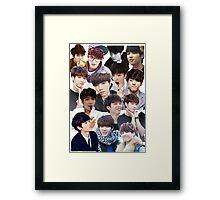 INFINITE - Nam Woohyun Collage - K-Pop Framed Print