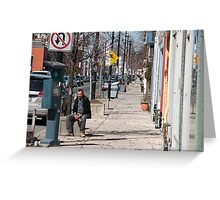 The Man In The Sidewalk In The Junction Greeting Card