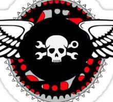 Flying Skull Logo Sticker