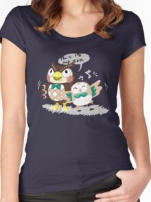 Blathers & Rowlet Women's Fitted Scoop T-Shirt