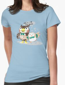 Blathers & Rowlet Womens Fitted T-Shirt