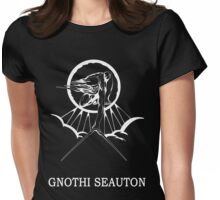 Lucas North : Gnothi Seauton -white- Womens Fitted T-Shirt