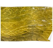 Water and sand, yellow Poster