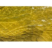 Water and sand, yellow Photographic Print
