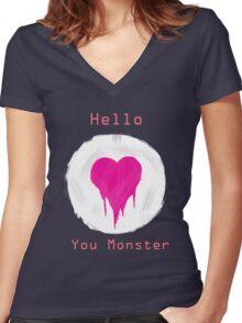 You Monster Women's Fitted V-Neck T-Shirt