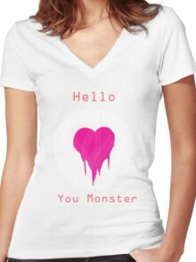 You Monster Women's Fitted V-Neck T-Shirt
