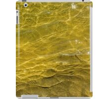 Water and sand, yellow iPad Case/Skin