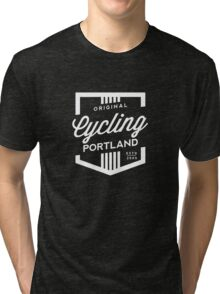 Cycling Portland Badge Tri-blend T-Shirt