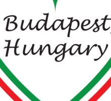 Budapest, Hungary Heart - Black Text Sticker