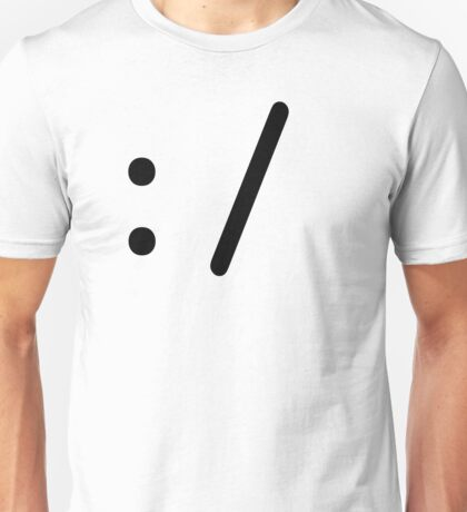 emoticon II - Bored - Black  Unisex T-Shirt