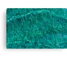 Water and sand, emerald Canvas Print